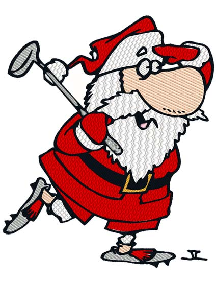 Free Clipart Santa Playing Golf | Free Images at Clker.com - vector clip art  online, royalty free & public domain
