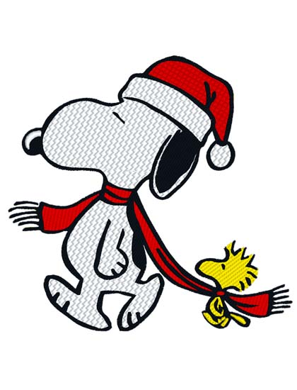 Christmas Snoopy.Embroidery Direct