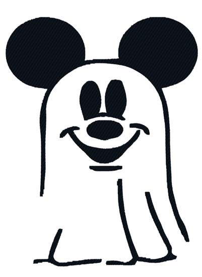 Mickey Ghost Outline