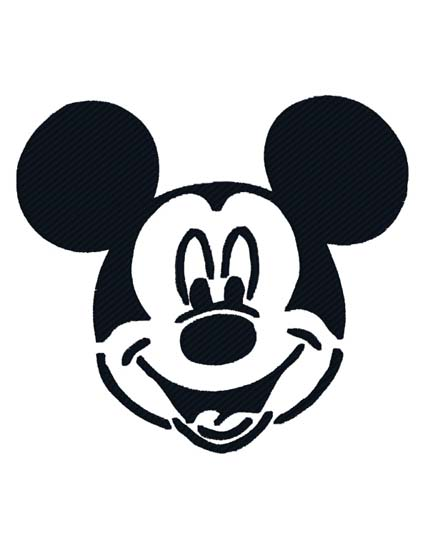 Mickey Head BW