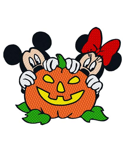 Mickey Minnie Pumpkin
