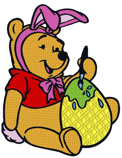 Pooh with Easter Egg