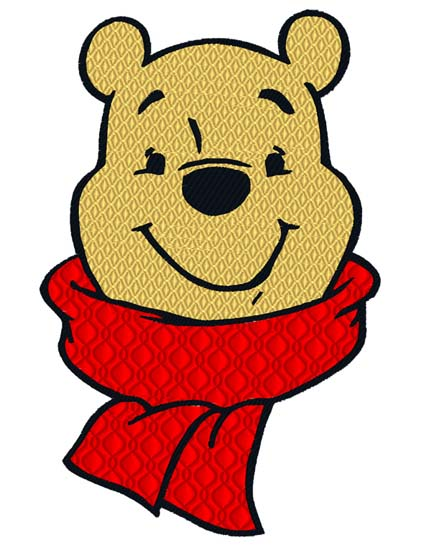 Pooh with Scarf