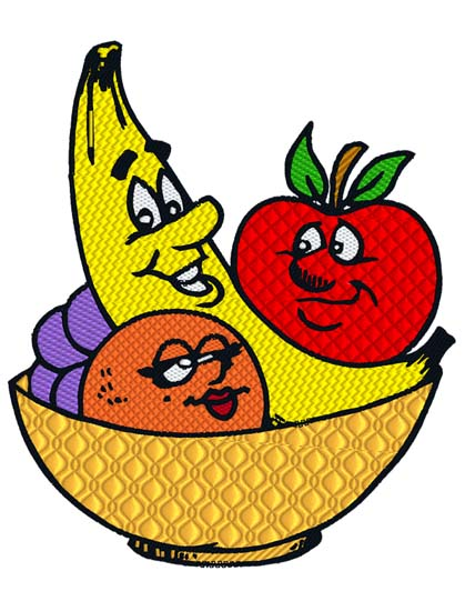 Cartoon Fruit Bowl