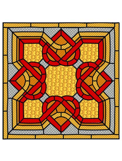 Stained Glass Art Deco 2