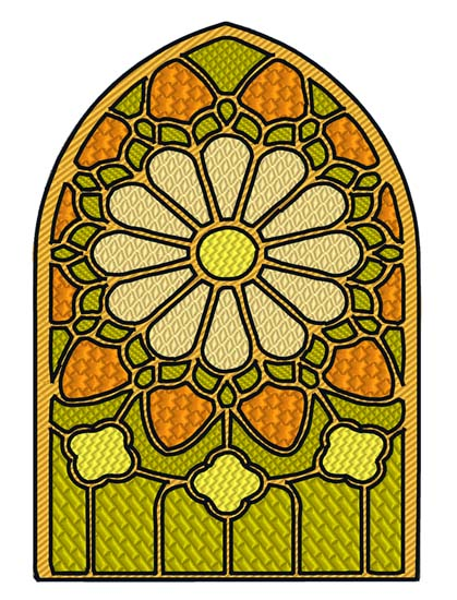 Stained Glass Flower 2