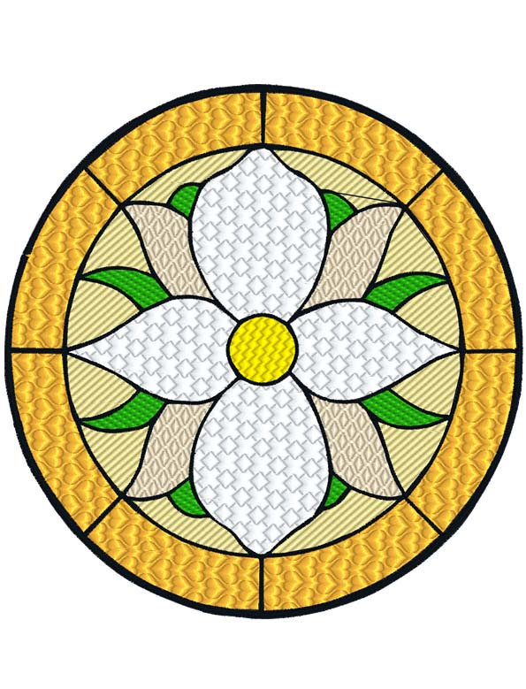 Stained Glass Flower 3