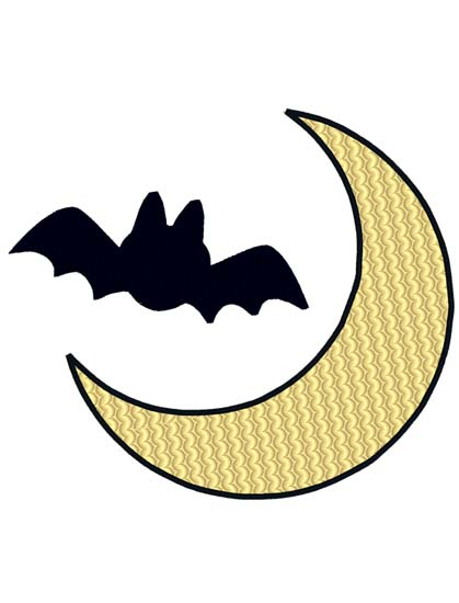 Bat And Moon